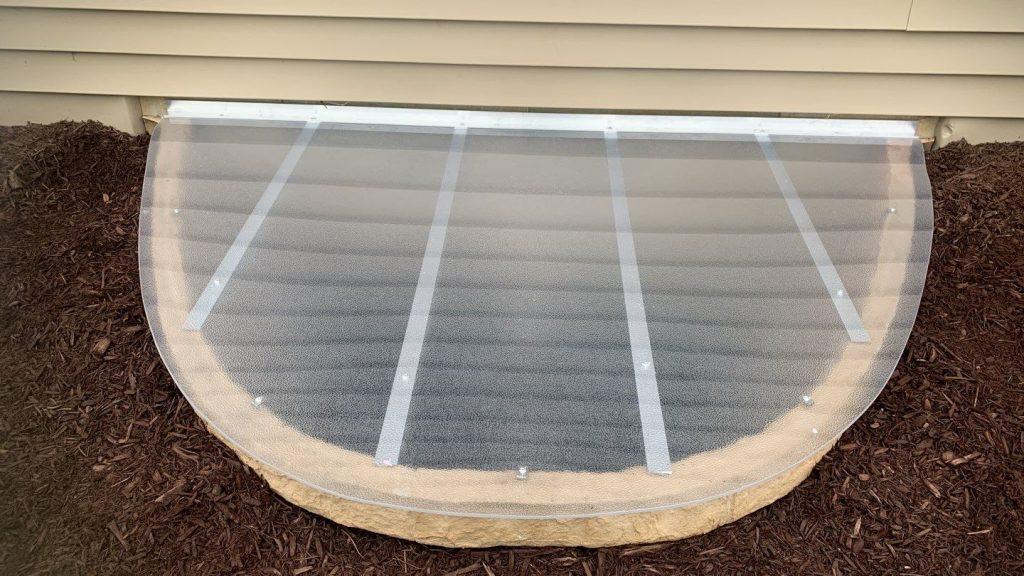 custom window well cover on plastic window well