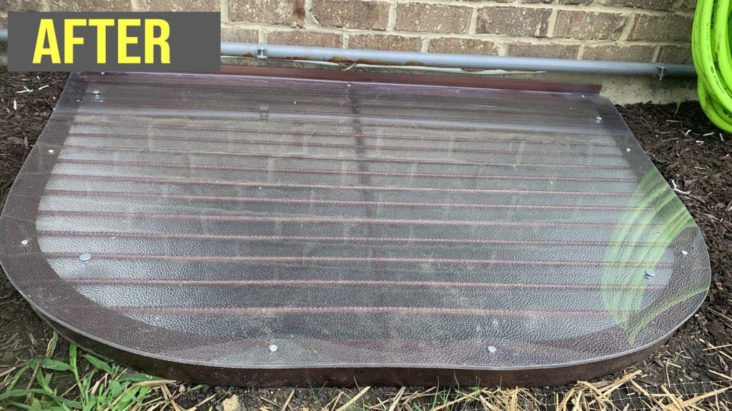 window well with grate overlay polycarbonate cover