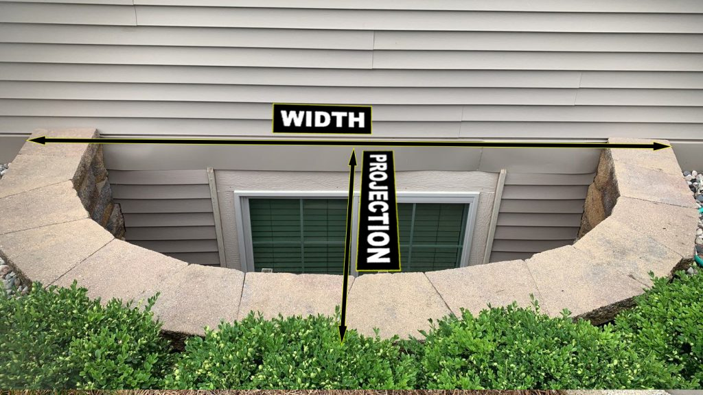 how to measure a window well for a window well cover installation